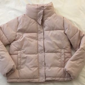 NWT H&M Soft Pink Puffer Coat